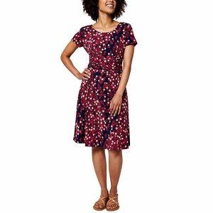 Leota Short Sleeve Dress - Bridle Rose print